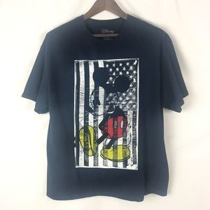 Disney Mickey Mouse American Flag Graphic Tee XL